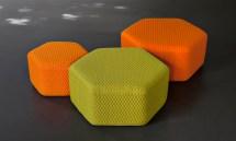 Hexagon Outdoor Stool & Poufs Lebello Furniture