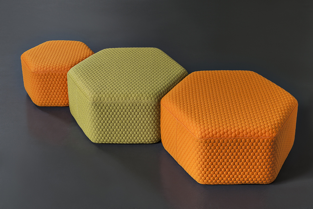 Hexagon Outdoor Stool  Poufs  Lebello Outdoor Furniture