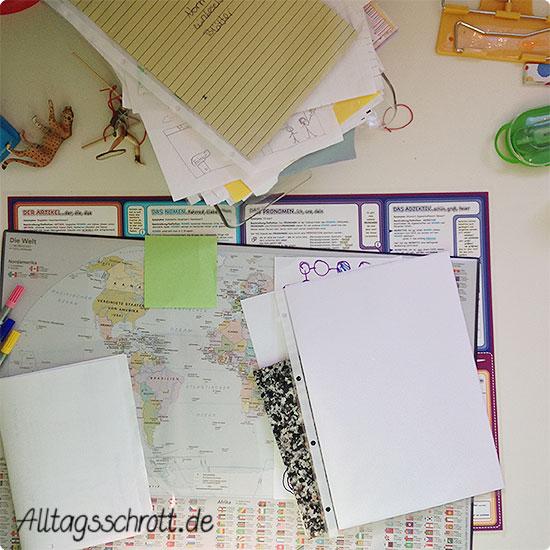 12 von 12 - Juni 2015 - chaotischer Schreibtisch im Teenagerzimmer