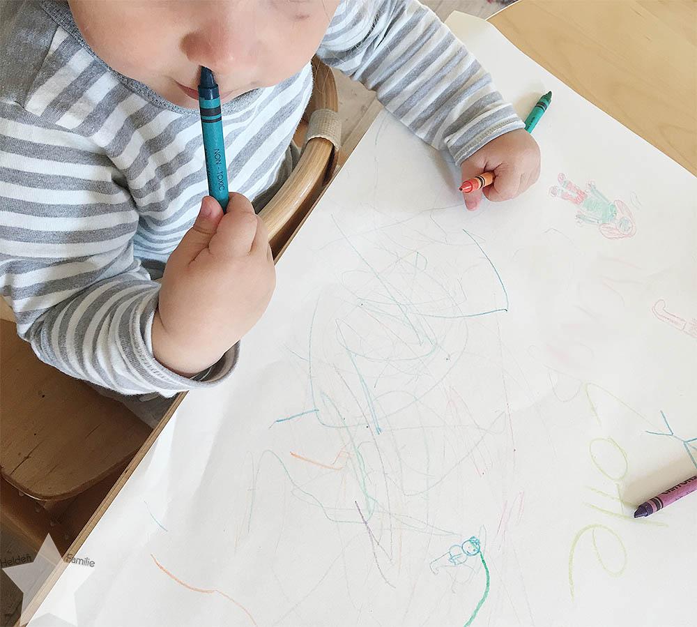 Wochenende in Bildern - 12. Geburtstag - Kleinkind malt zum ersten Mal