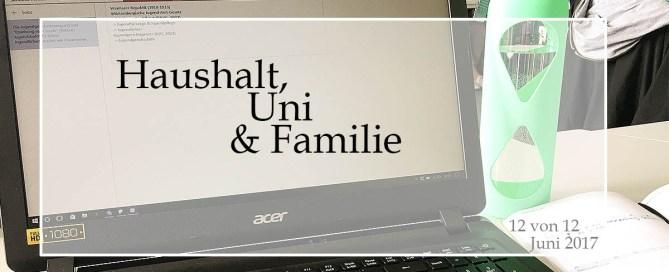 Haushalt, Uni & Familie - 12von12 im Juni