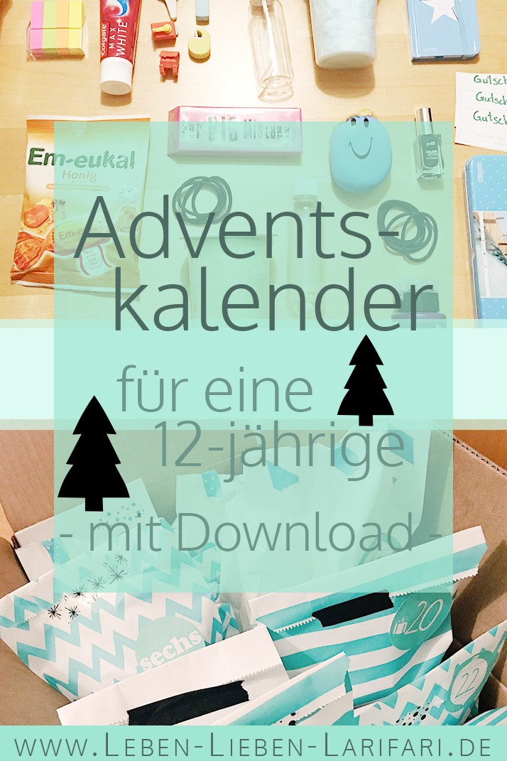 adventskalender ideen f r eine 12 j hrige mit download leben lieben. Black Bedroom Furniture Sets. Home Design Ideas
