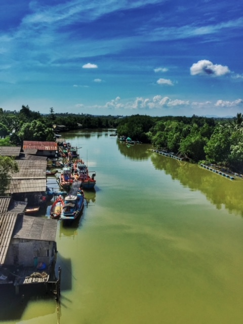 Kanaleinfahrt Chumpon Thailand
