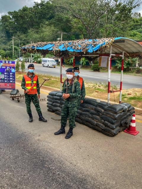 Armeekontrollpunkt Chumphon Ranong Fahrradtour