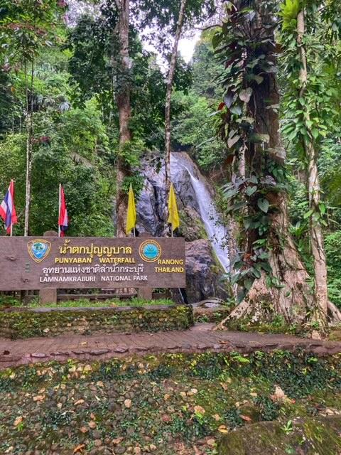 Wasserfall Nationalpark während Fahrradtour