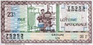 Lotterieschein, Frankreich 1968