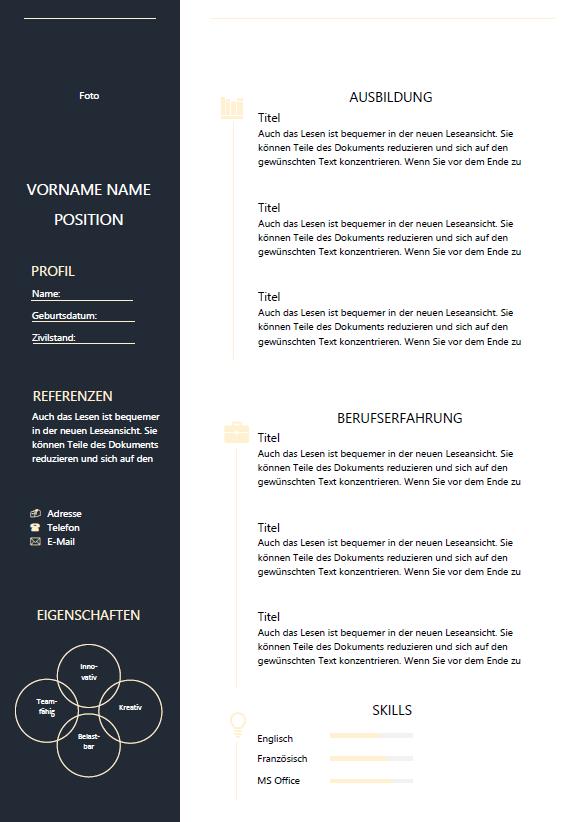 Um eure vorlage zu personalisieren, muss diese mit eigenen. Lebenslauf Word Vorlage Lebenslauf Schweiz