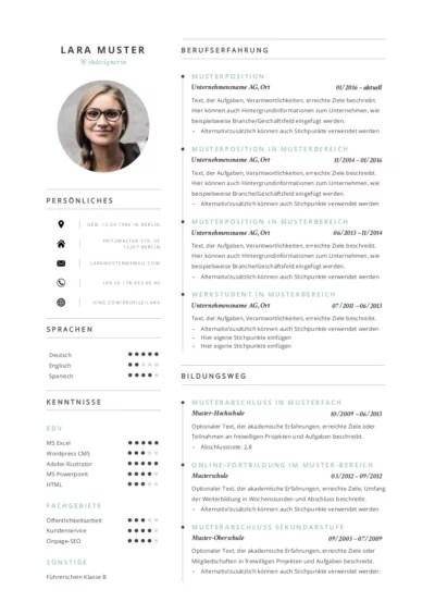 Ob einfach, tabellarisch, klassisch oder modern: Curriculum Vitae Cv 77 Lebenslauf Muster Vorlagen 2021 Ld