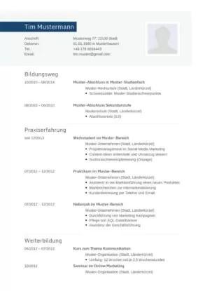 Tabellarischer lebenslauf download, bewerbung profilbild foto auf lebenslauf ja oder nein. 77 Lebenslauf Vorlagen Muster 2021 Lebenslaufdesigns De