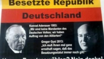 Die Souveränität Deutschlands! Besetztes Deutschland.