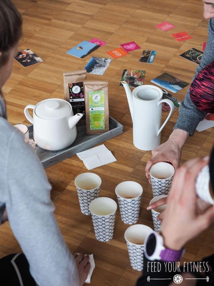 Instagram Bloggertreffen von FEED YOUR FITNESS Yoga Tee für alle