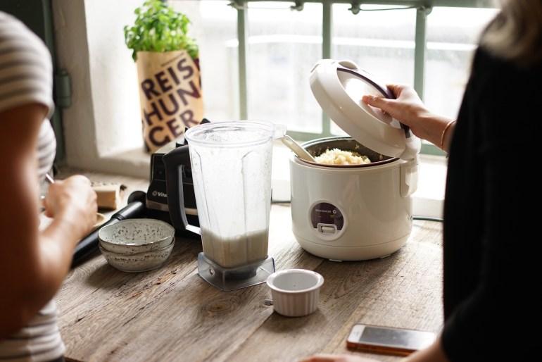Natur Reis Porridge aus dem Reishunger Reiskocher
