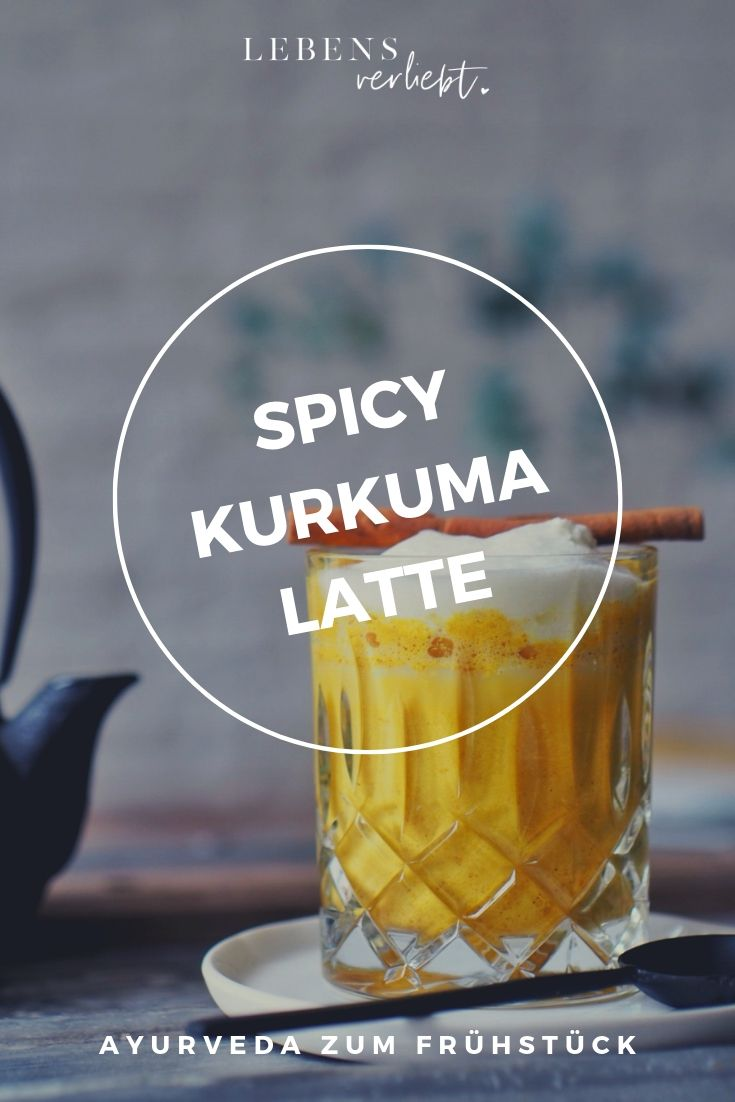 Spicy Kurkuma Latte aka Goldene Milch auf lebensverliebt.de