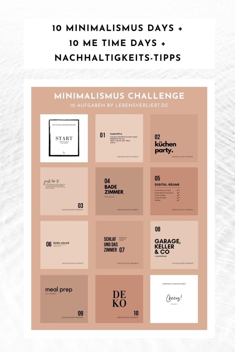Minimalismus Challenge auf lebensverliebt.de