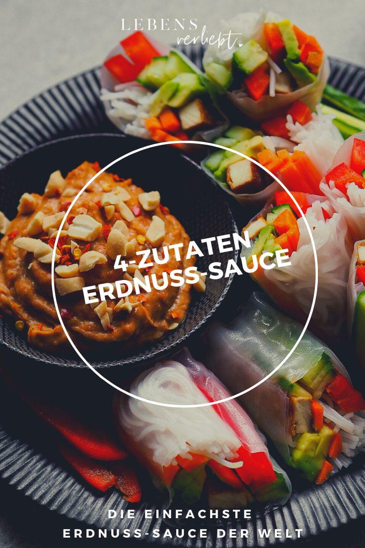 4-Zutaten Erdnuss-Sauce auf Lebensverliebt.de