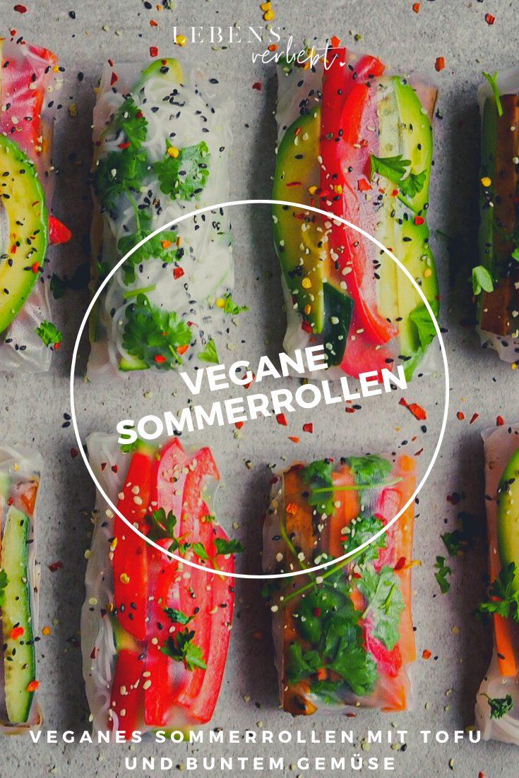 Sommerrollen mit gebratenem Tofu und frischem Gemüse auf lebensverliebt.de