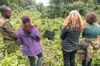 Our guide, Rafika, Brigitte and Charlotte