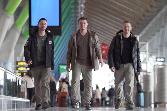 Josh, Cedrik et Martin