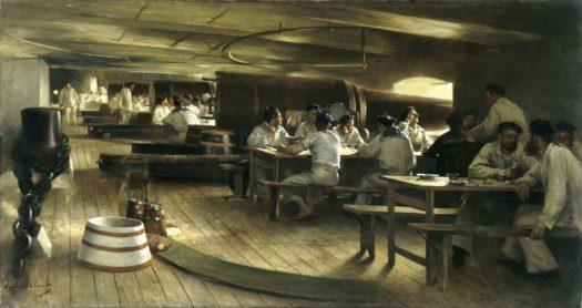 navire de guerre, équipage, base de Cherbourg