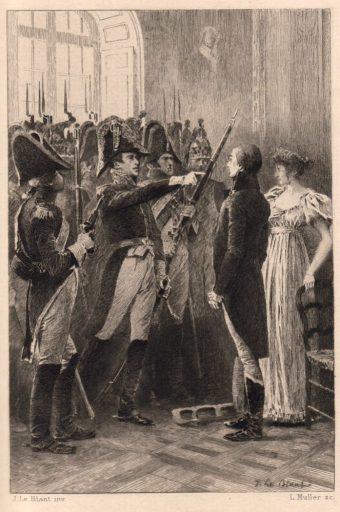 duc d'Enghien, 1er empire. L'affaire du duc d'Enghien recouvre l'enlèvement, le jugement et enfin l'exécution dans les fossés du château de Vincennes le 21 mars 1804, de Louis Antoine de Bourbon-Condé, duc d'Enghien, petit-fils du prince de Condé, à la suite d'une opération de la police secrète dirigée par Savary et menée par le général Ordener.