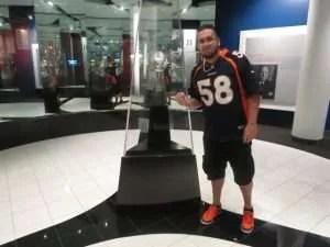 Moi et le trophée Vince Lombardi