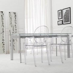 Louis Ghost Chair Brushed Stainless Steel Dining Chairs 20 Superb Ways To Make A Small Room Feel Bigger