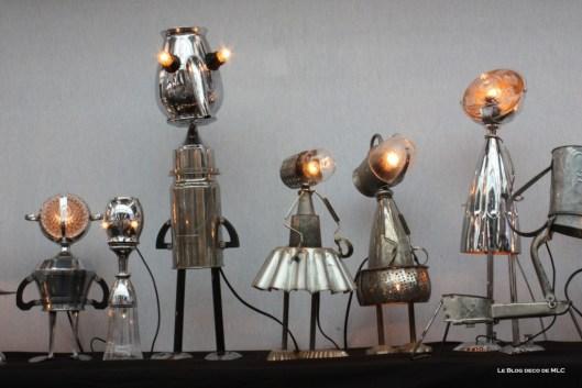 lampe ustensile cuisine détourné ensemble