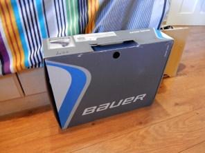 La boîte de mes patins (à glace).