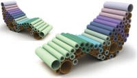 Design: Chutes de moquette + Rouleaux de carton= Un ...