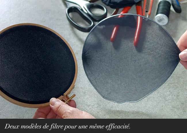 Deux modèles de filtre pour une même efficacité.