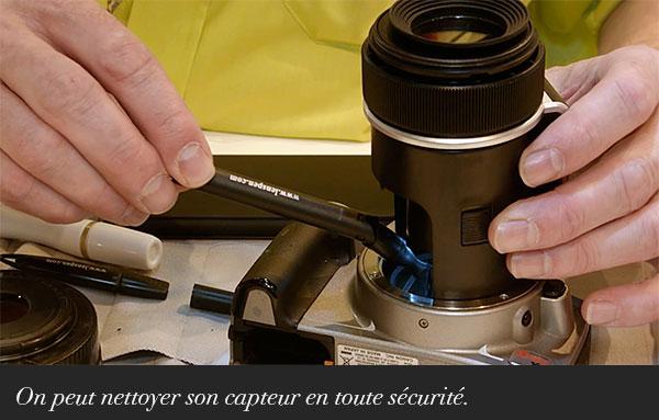On peut nettoyer son capteur en toute sécurité.