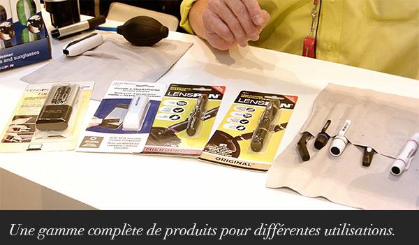 La gamme LENSPEN complète pour différentes utilisations.