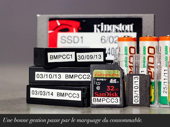 Gestion de vos batteries et de vos cartes mémoires.