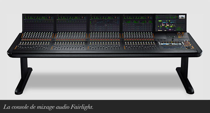 Console de mixage Fairlight.