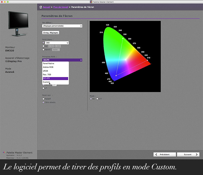 Le moniteur BenQ SW320 un écran 4K axé photo.
