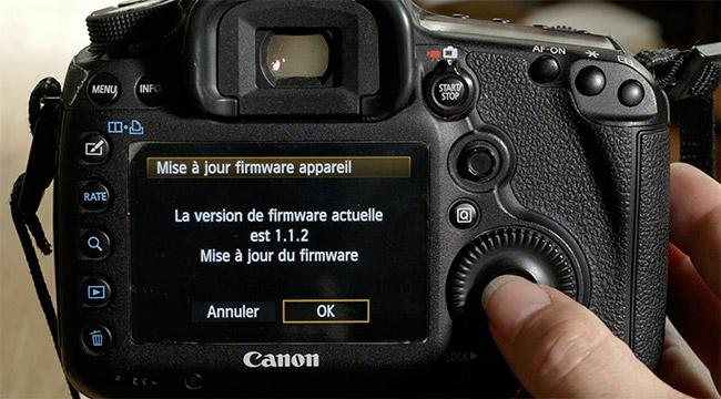 Mettre à jour son Firmware de Canon 5D MKIII