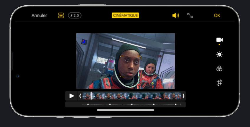 Le seul smartphone qui vous permet de modifier l'effet de profondeur après avoir filmé, mais, j'imagine, seulement disponible sur l'app d'Apple