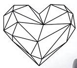 image coeur géométrique