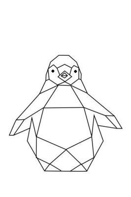 image pingouin géométrique