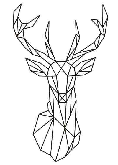 dessin original tête de cerf