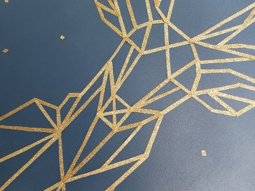 Tableau géométrique cerf gros plan
