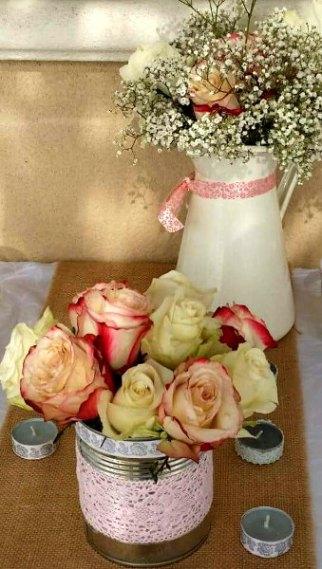fleurs bohème roses