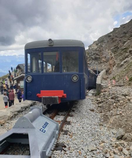 Arrivée au pic de l'Aigle du Tramway du Mont-Blanc