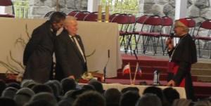 Lech Walesa et Mgr Di Falco le 1er mai 2015.