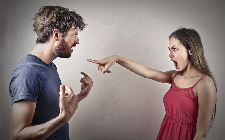 dispute, colère, couple, homme et femme