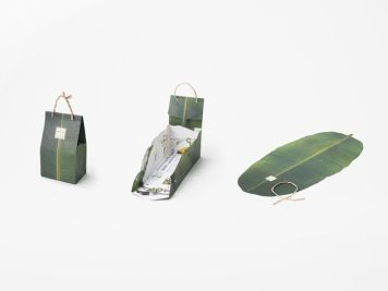 Nendo packaging banane Shiawase UNIFRUTTI Japan