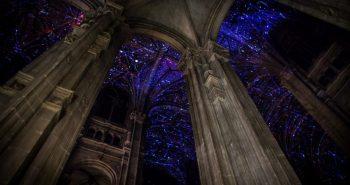 Heavenly Vaults Miguel Chevalier cathédrale Saint Eustache