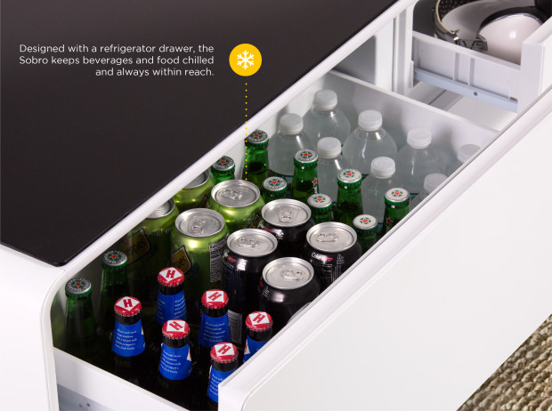 Sobro table basse mini-bar intelligente