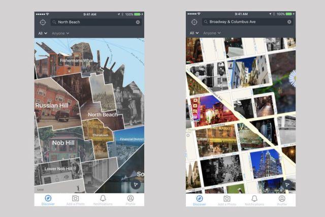 Meilleures applications pour visiter les villes: Streetography