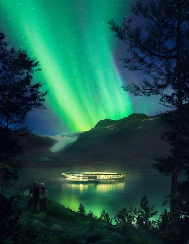 Svart - Un hôtel circulaire futuriste pour admirer les aurores boréales